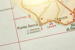 PUNTA SECCA Die Insel von Sizilien, Italien lizenzfreie stockfotografie