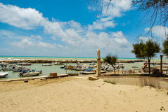 Punta Secca, Italy - June 02, 2010: The beach of the inspector Montalbano Stock Image