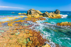 Punta Sura, Isla Mujeres, Meksyk widok Zdjęcia Royalty Free