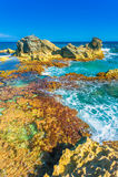 Punta Sura, Isla Mujeres, Meksyk widok Obrazy Stock