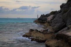 Punta Sura na Isla Mujeres Fotografia Royalty Free