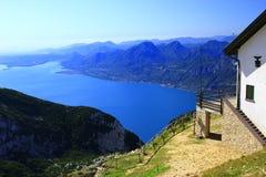 Punta Telegrafo sopra il lago Garda Fotografie Stock