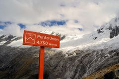 Punta Union, Cordillera Blanca, Santa Cruz Trek Royalty Free Stock Photos