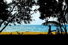 Punta Uva beach at Puerto Viejo, Costa Rica Royalty Free Stock Photography