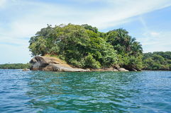 Punta Uva op de Caraïbische kust van Costa Rica Stock Afbeelding