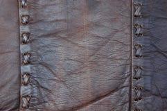 Puntada cruzada de cuero foto de archivo