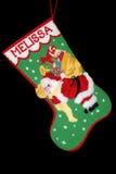 Puntada de la cruz de la media de la Navidad imágenes de archivo libres de regalías