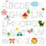 Puntada del alfabeto ilustración del vector