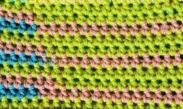 Puntadas de ganchillo de la textura de la tela Foto de archivo libre de regalías