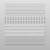 Puntadas y divisores Foto de archivo libre de regalías
