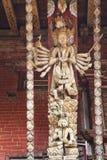 Puntal artístico de la azotea, templo de Changu Narayan, Nepal imagen de archivo libre de regalías