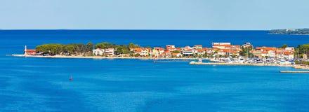 Puntamiika peninsula of Zadar aerial panorama Stock Images