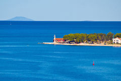 Puntamika lighthouse of Zadar aerial view Stock Image