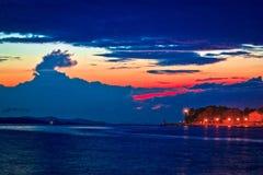 Puntamika peninsula in Zadar epic twilight Royalty Free Stock Image