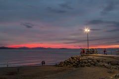 Puntarenas-Strandtouristenattraktion pazifisch von Costa Rica lizenzfreie stockfotos