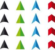 Puntas de flecha del Web del vector Imagen de archivo
