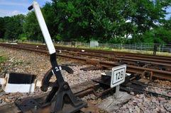 Puntas ferroviarias Fotografía de archivo libre de regalías