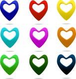 Puntatore del cuore Fotografie Stock