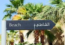 Puntatore della spiaggia Immagine Stock