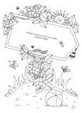 Puntatore di Zen Tangle dell'illustrazione di vettore con l'iscrizione Fotografie Stock Libere da Diritti