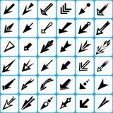 Puntatore e frecce del cursore messi illustrazione di stock