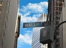 Puntatore Wall Street Immagini Stock Libere da Diritti