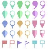 Puntatori di carta della mappa di colore illustrazione vettoriale