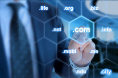 Puntcom het belangrijkste domein einde royalty-vrije stock afbeelding