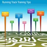 Punte correnti di addestramento della pista Immagine Stock