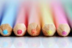 Punte della matita di colore. Immagini Stock