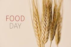 Punte di giorno e del grano dell'alimento del testo Fotografie Stock