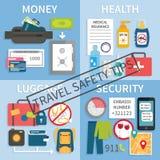 Punte di sicurezza di viaggio Fotografia Stock