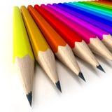 Punte marcate della matita Immagini Stock Libere da Diritti