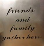 Punte utili circa gli amici e la famiglia immagine stock libera da diritti