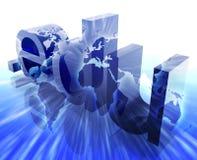 Puntee el Internet del edu Imagen de archivo libre de regalías