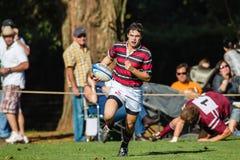 Punteggi del giocatore di azione di rugby Immagine Stock Libera da Diritti