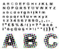 Punteggia l'alfabeto di fantasia Immagini Stock Libere da Diritti