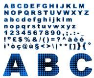 Punteggia l'alfabeto di fantasia - azzurro Immagini Stock Libere da Diritti