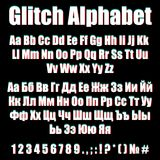 Punteggiatura cirillica latina inglese di numero di alfabeto di impulso errato royalty illustrazione gratis