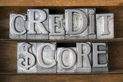 Punteggio di credito Immagini Stock Libere da Diritti