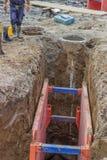 Puntellamenti dello scavo del metallo Immagini Stock Libere da Diritti