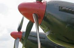 Puntelli dei velivoli di caccia della seconda guerra mondiale F-82 Fotografie Stock