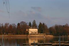 Puntelli del lago Constance in inverno immagine stock libera da diritti