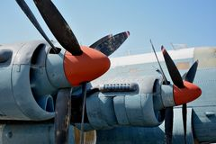 Puntelli dell'aeroplano Fotografia Stock