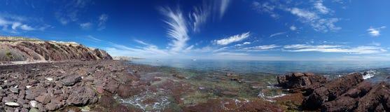 Puntello & cielo della baia di Hallett Fotografia Stock