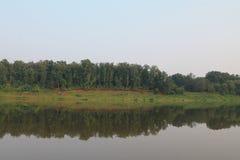 Puntello del fiume Fotografia Stock Libera da Diritti