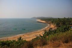 Puntello dell'Oceano Indiano Anjuna, Goa Fotografie Stock