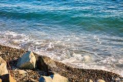 Puntello di mare roccioso Immagini Stock
