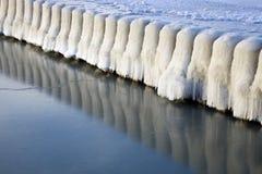 Puntello ghiacciato del lago Michigan Fotografia Stock Libera da Diritti