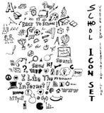 Punten de uit de vrije hand eps10 van de tekeningsschool Royalty-vrije Stock Foto's